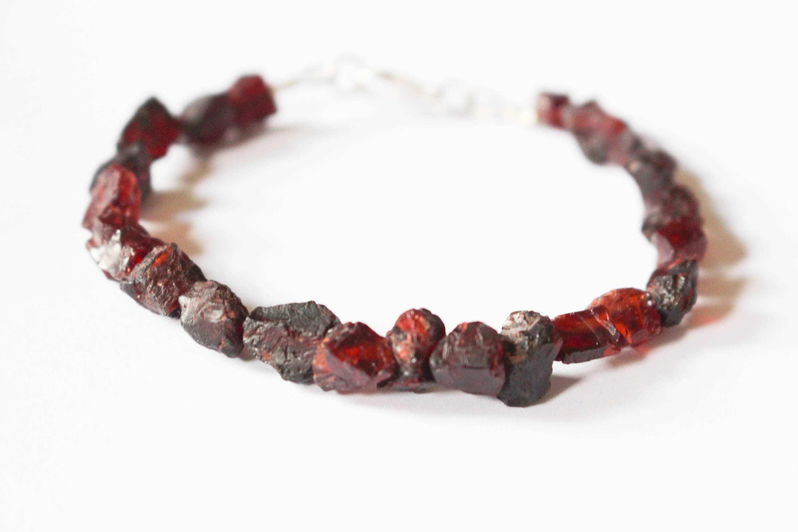 garnet red bracelet heart shop