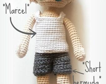 """Complete outfit """"Sportswear"""" Doll crochet kawaii""""(boy or girl)"""