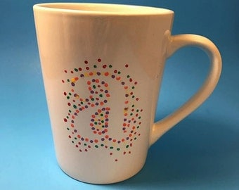 Monogram Rainbow Dot Mug
