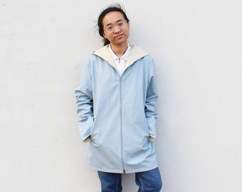 Vintage Baby Blue Raincoat Rain Coat
