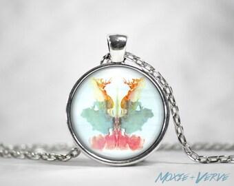 Rorschach Art, Ink Blot Necklace, Ink Blots, Psychology Gifts, Mental Health, Psychiatrist Gift