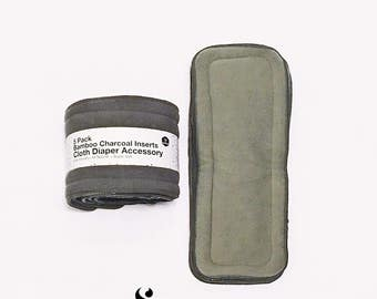 Bamboo Charcoal Insert, Bamboo Charcoal, Bamboo, Cloth Diaper Insert, Bamboo Insert, Organic Insert, Cloth Nappy Insert, 20 Pack Insert