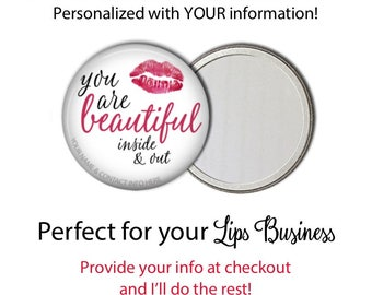 Lips Business Promotional Mirrors - Advertising - Customer Appreciation - Distributor - Team Gift - Consultant Gift - Lips