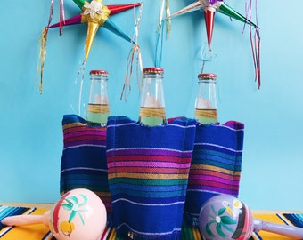 Beer serape, fiesta decorations, Mexican party decorations, Mexican fiesta decorations, Mexican wedding, Mexican party favors SET OF 3