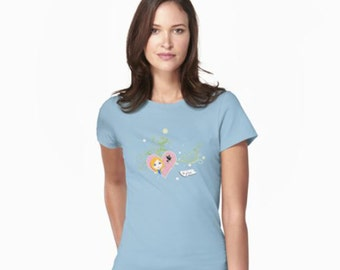 Be Free To Be Yourself Women's Short-Sleeve Fitted T-Shirt