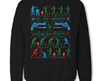 The Walking Dead Ugly Christmas Sweatshirt Sweater Daryl Dixon, Rick Grimes, Negan Michonne