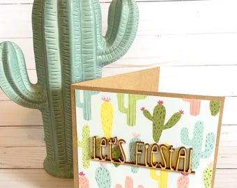 Let's Fiesta Greeting Card | Fiesta Party Cards | Birthday Cards | Let's Fiesta Card | Mexican Fiesta Card