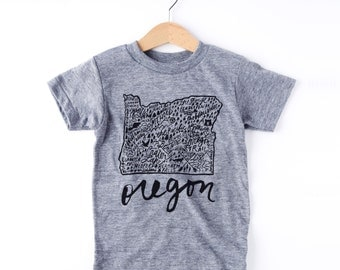 Oregon Kids Graphic Tee | Girls Clothes | Boys Clothes | Kids Clothes | Baby Shower Gift | First Birthday Outfit | Birthday Gift | Baby Gift