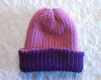 Reversible Loom Knit Hat, Wildberries FREE SHIPPING