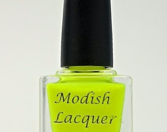 "Bright Neon Yellow Nail Polish ""Volt"""