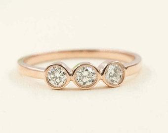 0.30 Ct Diamond Band.100% Natural High Quality. Diamond Wedding Band.Rose Gold diamond ring.White Gold Band.14K Solid Gold Wedding ring.