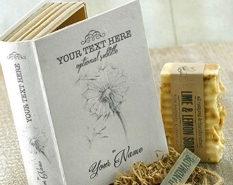 PERSONALIZED Gift SOAP BOX Book Alike~Valentine's gift-natural soap gift set-wedding gift-anniversary-graduation-retirement-valentine's day