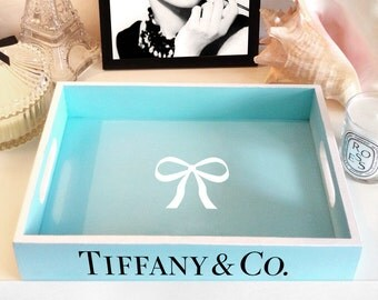 T wooden tray in Classic Blue