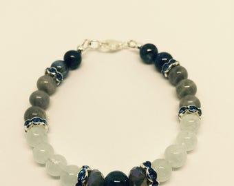 Kyanite Aquarmarine & Labradorite Bracelet