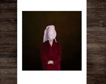 Surreal photography art print, minimal print conceptual fine art portrait print photo minimalism moody dramatic painterly wall art portrait