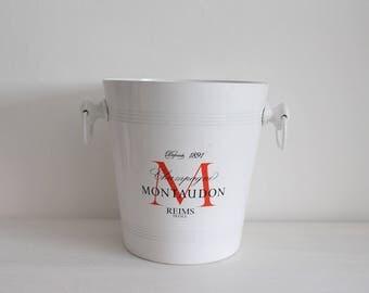 Vintage French Montaudon Reims Champagne Aluminium Ice Bucket - Wine Cooler