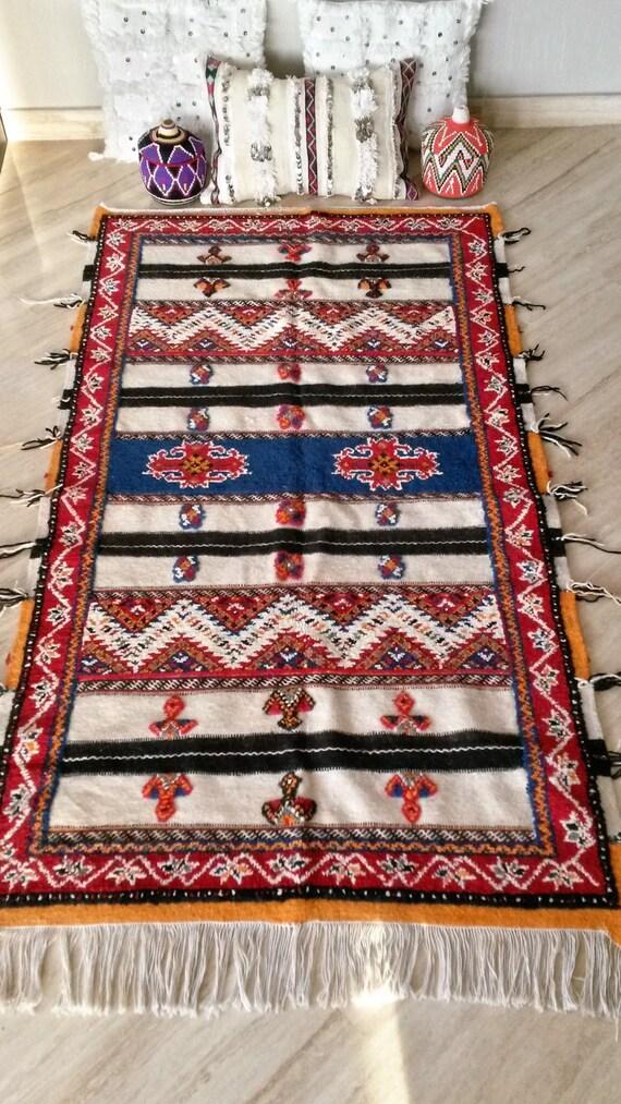 tapis berb re glaoui en laine fait main. Black Bedroom Furniture Sets. Home Design Ideas