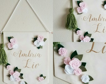 Personalized Floral Name Art