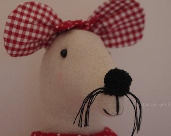 Novelty Door Mouse Doorstop Doorstopper With Normal Family Plaque Fabric