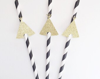 Teepee- Party- Wild One Party- Paper Straws- Wild One Party Decor- Teepee Party Decor- Decorative Straws-First Birthday Party- Wild One