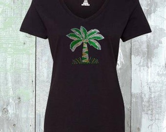 Palm Tree Sequins Shirt