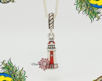Genuine Pandora, Lighthouse Pendant Charm 791137EN42