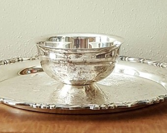 """Oneida Silverplate Chip and Dip Tray 12"""""""