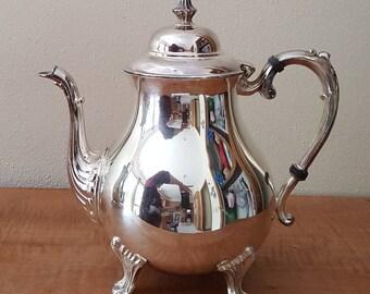 Silverplate Tea Pot Sheridan Co Tea Pot 1950s