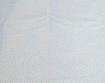 Gray Dots on White Cotton Fabric from Timeless Treasures