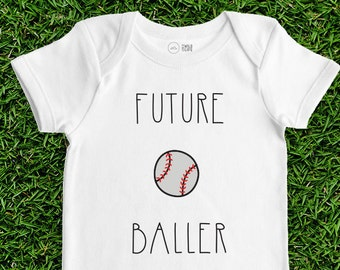 Baseball Baby Bodysuit - Future Baller - Sports Baby, Baby Clothes, Baby Shower Gift