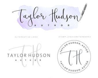Writer Logo, Logo design package, Premade editor logo, Blog design, copywriter Branding Kit Journalist Logo, Author Brand set, Pen Logo 106