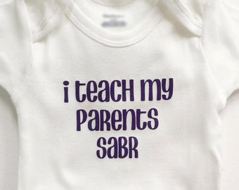 I teach my parents sabr, bodysuit, Islamic gift, baby gift, cute outfit, patience, patience is a virtue, Arabic, Eid gift, Ramadan, Muslim