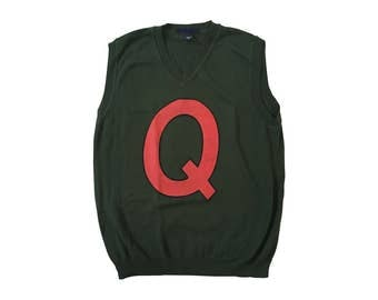 Quailman Vest Sweater As Worn By Doug Funnie Costume Q Quail Man TV Show Alter Ego Super Hero Superhero 90s Nickelodeon Cosplay Adult Green