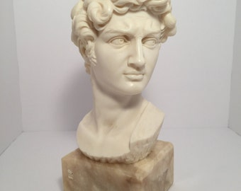 G. Carusi Bust of David on Granite Base