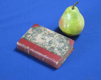 1700s miniature leather book of poetry