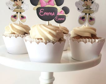 Minnie Safari Cupcake Toppers |  Minnie Safari Party Supplies | Minnie Safari Birthday | Minnie Mouse Safari  | Minnie Mouse Cupcake Top