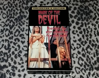 Mark of the Devil [VHS] Horror VHS Rare Witchcraft Historical Horror rare VHS Tape Cult Movie
