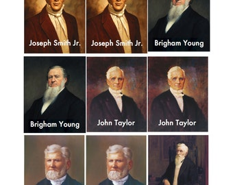 DIGITAL LDS Prophets Memory Game--great for primary lessons or FHE