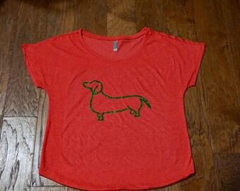 Christmas wiener dog shirt, Christmas shirt, Wiener dog shirt, Dog shirt, Dachshund shirt