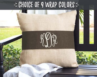Wedding Gifts 2017, Bridal Shower Gift for Her, Gifts for Couple Shower, Wedding Shower Gift Ideas, Monogrammed Pillow, Initials, 506965264