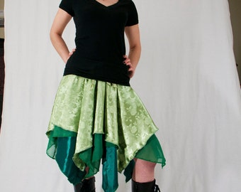 Pixie Skirt - Shades of Green - Size S