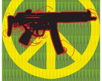 Vintage Give Peace A Chance CND Anti War Poster A3 Print