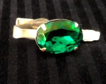 Emerald Tie Clip