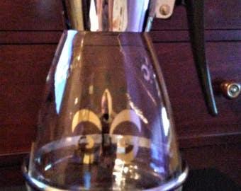Vintage Silver Tone Colony Coffee Carafe Warmer