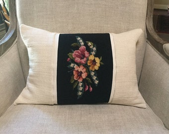 Needlepoint Lumbar Pillow