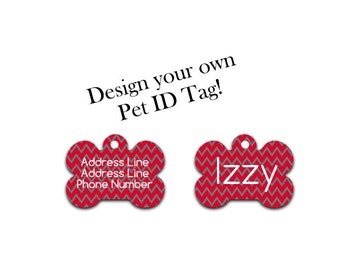 Pet ID tag | Custom ID tag | Dog ID tag | Dog Tag | Animal Tag | Cat Identification | Pet Identification | Pet Gift