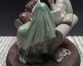 """Vintage 1991 Rockwell's Beautiful Dreamers Limited Edition """"Dear Diary"""" figurine Norman Rockwell"""