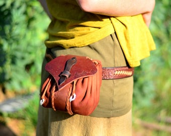 satchel leather - belt purse