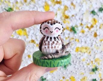 Handmade Owl Figurine, Owl Totem, Handmade Gift, MADE TO ORDER