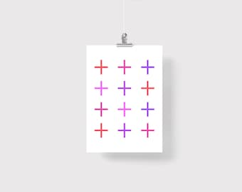 Bright Wall Art/Poster-Geometric print-Minimalist Art